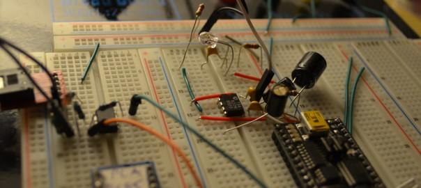 Transmitting audio using light